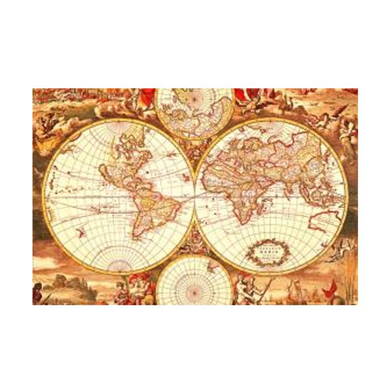 Tomax 100108 Puzzle Mapamundi Antiguo 1000 Piezas  Berrini